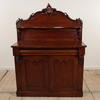"3'6"" Mahogany Victorian 1 Drawer, 2 Door, Décor Top Chiffonier"
