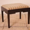 Camphor Wood Dressing Table Stool With Beige And Gold Upholstered Seat