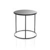 Tall Circ Black Frame 'ile' Lamp Table With Black Glass Top (47 Cm H X 46 Cm) (Also Available In 2 Other Sizes)
