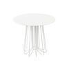 White 'smallwire' L/Table W/ Circ. White Glass Top (50 Cm H X 55 Cm)