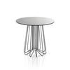 Black 'smallwire' L/Table W/ Circ. Black Glass Top