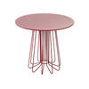 "Red ""Smallwire"" Lamp Table With Circ. Red Glass Top ( H: 50cm Diam: 55cm)"