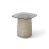 Large Bronze Interwoven Glass Base Sq.Lamp Table (50 Cm H X 50 Cm X 50 Cm)