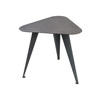 Black Steele Triangular Lamp Table (40 Cm H X 46 Cm X 42 Cm)