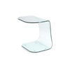 Clear Curved Glass Side Table (54 Cm H X 50 Cm X 40 Cm)