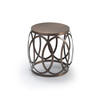 Copper Lattice Lamp Table (48 Cm H X 40 Cm)