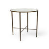 Aged Gold Lamp Table With Mirrored Top (50 Cm H X 50 Cm)