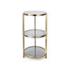 Brass 3 Tier Bar Table (90 Cm H X 49 Cm)