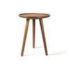 Circ Walnut Tri Leg Lipped Top Lamp Table
