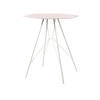 White & Pink Metal 'emil' Lamp Table
