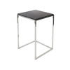 Medium Square Chrome Byron Lamp Table With Marble Top