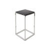 Small Square Chrome Byron Lamp Table With Marble Top