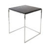 Large Square Chrome Byron Lamp Table With Marble Top