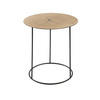 Large Circular Metal Lamp Table With Log Top