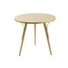 Gold Lacquered Circ.Lamp Table On Wood Legs