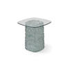 Clear Glass Interwoven Base Square Lamp Table