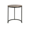 Medium Indi Black Metal Circ Lamp Table With Bronze Top