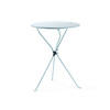 Pale Blue Metal Cumano Folding Lamp Table
