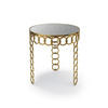 Gold Chain Circ Ascot Lamp Table With Smoked Glass Top