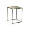 Medium Matt Gold Square Lamp Table (36cm Sq X 46cm H)
