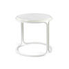 White Tubular & White Ceramic Top Side Table