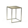 Small Matt Gold Square Lamp Table (31cm Sq X 41cm H)