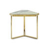 Green Marble & Brushed Gold Jones Side Table