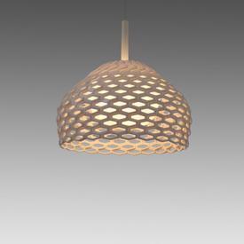 Small White Perspex Perforated ''Tatou'' Hanging Lamp