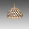 Small White Perspex Perforated  'tatou' Hanging Lamp