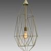 Large Brass Diamond Hanging Lamp
