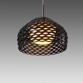 Small Brown Perspex Perforated ''Tatou'' Hanging Lamp