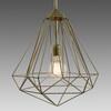 Medium Brass Diamond Hanging Lamp