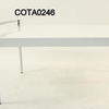 Gamma White Lacquered & Chrome Coffee Table