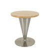 Boline Johanson Venus Circular Oak & Steel Trumpet Base Low Coffee Table