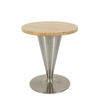 Boline Johanson Venus Circular Oak & Steel Trumpet Base Low Coffee Table