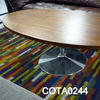 Actona Oval Walnut/Chrome Ped Coffee Table