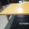 Ex Gimberts Beech Or Brown Top Metal Leg Square Coffee Table
