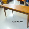 4' Teak Rectangular Narrow Lipped Ends Coffee Table  (50s)