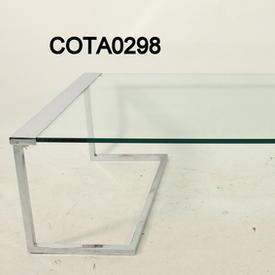 Prima Casa Aqua C/P & Glass 115Cm X 60Cm  Debs Coffee Table