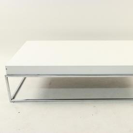 Prima Casa Lusso C/P & White Lacquer 4' Coffee Table