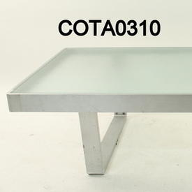Kest Rect Ali & Frosted Glass Coffee Table