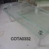 B Vox Rect Clear Glass Frosted Edge Coffee Table