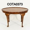 70x50cm Oval Ripple Edge Burr Walnut Cabriolet Leg C/Table