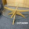 Conran Boomerang Glass/Oak Circ Coffee Table
