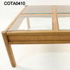 Lge Square  Oak 4 Glass Panel Thomasville Coffee Table