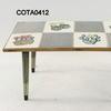 8 Tile 'cactus' Pattern 2'x12'' Rectangular  Coffee Table