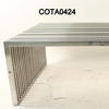 Rect Slatted Steel Glass Top 'suave' Coffee Table
