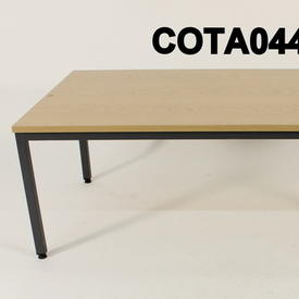 60X120Cm Oak & Grey Metal Leg Pwf Rectangular  Coffee Table