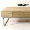 Rivo Bleached Oak/Steel Frame 120cm X 60cm 1 Drawer Coffee Table
