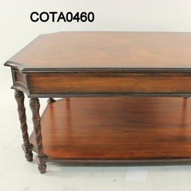 100Cm X 760Cm Antique Cherry Heritage 2 Drawer Rect Coffee Table